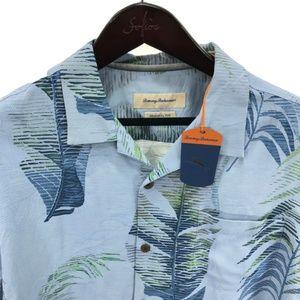 TOMMY BAHAMA XL Shirt Hawaiian Blue Floral NEW
